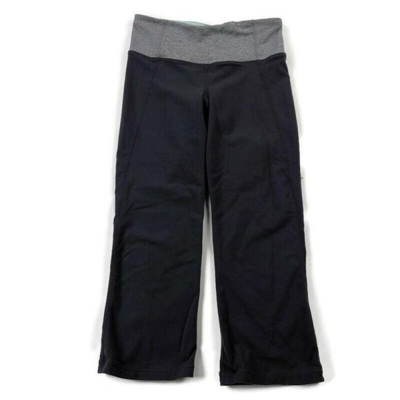 lululemon athletica Pants - Lululemon Gather & Crow Crop Leggings Slit Leg